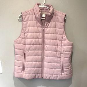 Loft Pink Puffer Vest   Size Large